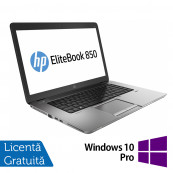 Laptop Refurbished HP EliteBook 850 G1, Intel Core i5-4200U 1.60GHz , 8GB DDR3, 320GB SATA, Webcam, LED backlight, 15.6 inch + Windows 10 Pro Laptopuri Refurbished