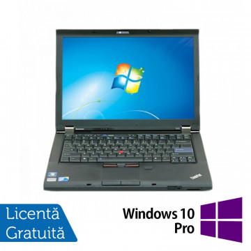 Laptop Refurbished LENOVO T410, Intel Core i5-520M 2.40 GHz, 4GB DDR3, 160GB SATA, DVD-RW, 14.1 Inch + Windows 10 Pro Laptopuri Refurbished