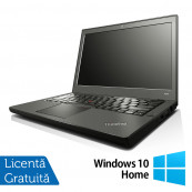 Laptop Refurbished LENOVO Thinkpad x240, Intel Core i5-4300U 1.90GHz, 4GB DDR3, 500GB SATA + Windows 10 Home Laptopuri Refurbished