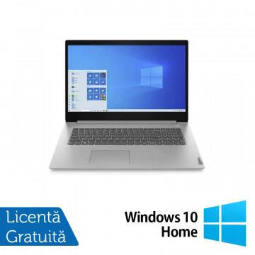 Laptop Nou Lenovo 3 17IML05, Intel Core i3-10110U 2.10GHz, 8GB DDR4, 1TB SATA, Bluetooth, Webcam, Platinum Gray, 17.3 Inch + Windows 10 Home Laptopuri Noi