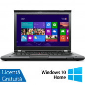 Laptop LENOVO ThinkPad T430, Intel Core i5-3210M 2.50GHz, 4GB DDR3, 320GB SATA, DVD-RW, 14 Inch, Webcam + Windows 10 Home, Refurbished Intel Core i5