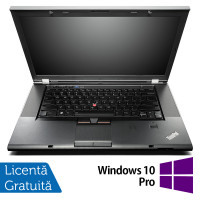 Laptop Lenovo ThinkPad W530, Intel Core i7-3740QM 2.70GHz, 8GB DDR3, 240GB SSD, nVIDIA Quadro K1000M, DVD-RW, 15.6 Inch Full HD, Fara Webcam + Windows 10 Pro