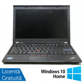 Laptop LENOVO ThinkPad X220, Intel Core i5-2430M 2.40GHz, 4GB DDR3, 120GB SSD, Webcam, 12.5 Inch + Windows 10 Home, Refurbished Laptopuri Refurbished