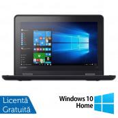 Laptop LENOVO Yoga 11e, Intel Celeron N3150 1.60GHz, 4GB DDR3, 120GB SSD, Touchscreen, Webcam, 11.6 Inch + Windows 10 Home, Refurbished Laptopuri Refurbished