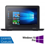 Laptop LENOVO Yoga 11e, Intel Core i3-6100U 2.30GHz, 8GB DDR3, 240GB SSD, Touchscreen, Webcam, 11.6 Inch + Windows 10 Pro, Refurbished Laptopuri Refurbished