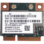 Modul WLAN HP Combo 802.11 a/b/g/n, Bluetooth 4.0, SPS#697316-001 HP P/N: 666914-001, Second Hand Componente Laptop