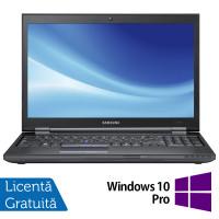 Laptop Samsung 400B5B, Intel Core i3-2310M 2.10GHz, 4GB DDR3, 120GB SSD, DVD-RW, 15.6 Inch, Webcam, Tastatura Numerica + Windows 10 Pro