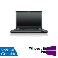 Laptop LENOVO ThinkPad T530, Intel Core i5-3320M 2.60GHz, 8GB DDR3, 120GB SSD, DVD-RW, 15.6 Inch, Webcam + Windows 10 Pro