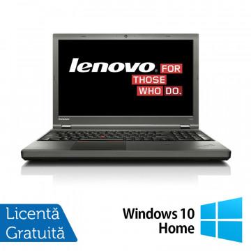 Laptop LENOVO ThinkPad T540p, Intel Core i5-4300M 2.60GHz, 4GB DDR3, 120GB SSD, DVD-RW, 15.6 Inch, Fara Webcam, Tastatura Numerica + Windows 10 Home, Refurbished Laptopuri Refurbished