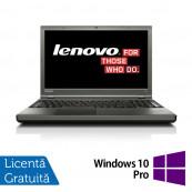 Laptop LENOVO ThinkPad T540P, Intel Core i7-4810MQ 2.80GHz, 8GB DDR3, 240GB SSD, DVD-RW, Full HD, Fara Webcam, 15.6 Inch + Windows 10 Pro, Refurbished Laptopuri Refurbished