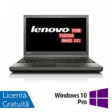 Laptop Refurbished LENOVO ThinkPad T540, Intel Core i5-4300M 2.60 GHz, 4GB DDR3, 120GB SSD, DVD-RW extern pe USB + Windows 10 Pro Intel Core i5