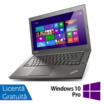 Laptop Refurbished LENOVO ThinkPad T440, Intel Core i5-4300U 1.90GHz, 8GB DDR3, 500GB SATA, 1600x900 + Windows 10 Pro Laptopuri Refurbished