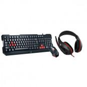 Kit Genius Gaming USB, Wired, 3 in 1 gaming kit, Tastatura + Mouse 1000 DPI + Casti, KMH-200 Periferice