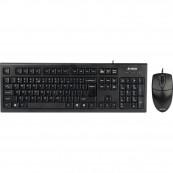 Kit Tastatura + Mouse cu fir A4Tech KR-8520D-USB, KR-85 + OP-620D, USB, negru Periferice