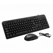 Kit Tastatura + Mouse SPACER SPDS-1691, Querty, USB, 18 taste multimedia, 800 dpi, Negru Periferice