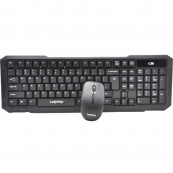 KIT LogiStep LSDK-0011, Tastatura wireless + Mouse wireless, negru Periferice