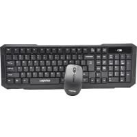 KIT LogiStep LSDK-0011, Tastatura wireless + Mouse wireless, negru