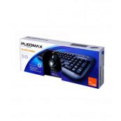 Kit Tastatura + Mouse cu fir, Samsung Pleomax PKC-700B, USB Periferice