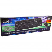Kit Tastatura + Mouse cu fir, Titanum TK106 Salem, USB Periferice