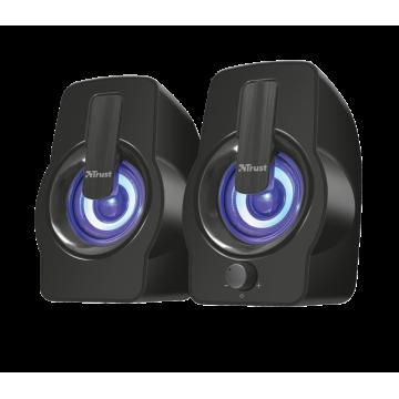 Boxe Stereo Trust Gemi RGB 2.0 Speaker Set - Black Periferice