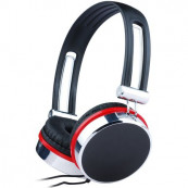 Casti Gembird cu microfon, lungime fir 1.5m, control volum pe cablu, conector jack 3.5mm, Black (+ Silver & Red) Periferice