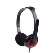 Casti Gembird cu microfon, lungime fir 1.8m, conector jack 3.5mm, Black Periferice