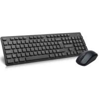Kit tastatura + mouse Wireless Delux KA150+M136, Negru