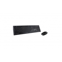 Kit tastatura + Mouse Serioux NK9800WR, Wireless 2.4GHz, US layout, Multimedia, Mouse optic 1200dpi, Negru, USB, Nano receiver