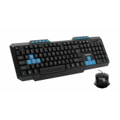 Kit Tastatura Multimedia + Mouse LogiStep LSDK-5181, Qwerty, USB, 10 taste multimedia, 800 dpi, Negru Periferice