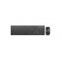 "Kit Tastatura si Mouse DELUX, ""KA150+KA150G"", wireless, 104 taste format standard, mouse , 3/1 butoane, negru"