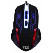 Mouse de Gaming 2400dpi, Iluminare LED, cablu USB 1.5M, 6 Butoane, TED-MO531 Periferice
