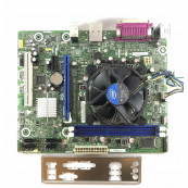 Placa de baza Intel DH61WW, Socket 1155, 2x DDR3, cu Shield + CPU Intel Core i5-2400 3.10GHz + Cooler, Second Hand Componente Calculator