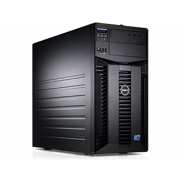 Server Dell PowerEdge T310 Tower, Intel Core i3-540 3.06GHz, 16GB DDR3-ECC, Hard Disk 4 x 2TB SATA, Raid Perc H200, Idrac 6 Enterprise, 2 PSU Hot Swap, Second Hand Servere second hand