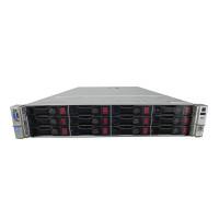 Server HP ProLiant DL380p G8 2U, 2x Intel Deca Core Xeon E5-2660 V2 2.20GHz - 3.00GHz, 256GB DDR3 ECC, 2X SSD 480GB + 4x 4TB SAS/7.2K, Raid P420/1GB, iLO4 Advanced, 2 Port x10 Gigabit SFP, 2xSurse Hot Swap
