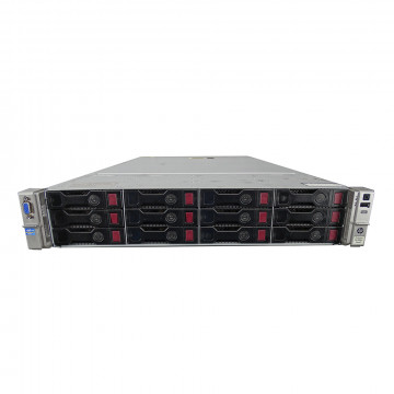 Server HP ProLiant DL380p G8 2U, 2xCPU Intel Hexa Core Xeon E5-2620 2.0GHz-2.5GHz, 64GB DDR3 ECC Reg, 2x2TB SAS/7.2K/3.5, Raid P420/1GB, iLO4 Advanced, 2 Port x10 Gigabit SFP, 2xSurse Hot Swap + 2 CADOURI: Placa retea 4 porturi Gigabit si 2xCaddy 3.5 G8,