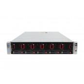 Server HP ProLiant DL560 G8 2U, 4 x CPU Intel Hexa Core Xeon E5-4610 2.40GHz - 2.90GHz, 256GB DDR3 ECC, 2 X SSD 480GB, Raid P420i/1GB, iLO4 Advanced, 4 Port xGigabit, 2x Surse Hot Swap, Refurbished Servere second hand