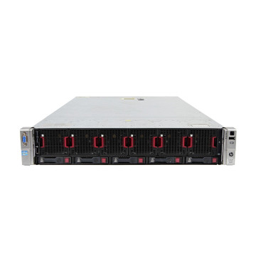 Server HP ProLiant DL560 G8 2U, 4 x CPU Intel Hexa Core Xeon E5-4610 2.40GHz - 2.90GHz, 512GB DDR3 ECC, 2 X SSD 480GB + 2 x HDD 1.2TB SAS/10k, Raid P420i/1GB, iLO4 Advanced, 4 Port xGigabit, 2x Surse Hot Swap, Refurbished Servere second hand