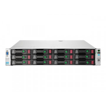 Server Refurbished HP ProLiant DL380e G8, 2U, 2x Intel Octa Core Xeon E5-2450L 1.8 GHz-2.3GHz, 16GB DDR3 ECC Reg, 2 x 450GB SAS/10K/2,5 on 3,5 adapter, Raid Controller HP SmartArray P420/1GB, iLO 4 Advanced, 2x Surse Hot Swap 750W Servere second hand