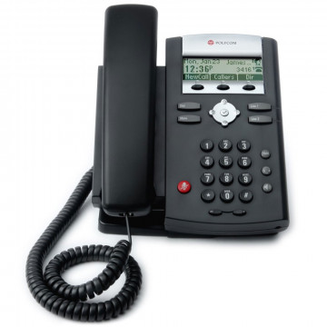 Telefon NOU Polycom SoundPoint IP 320, POE, VoIP/SIP, Fara alimentator Telefoane