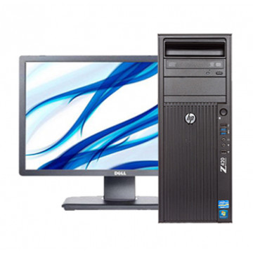 Workstation HP Z420 Tower, Intel Xeon Hexa Core E5-1650 3.20GHz, 16GB DDR3, 2TB SATA, DVD-RW + Monitor Refurbished DELL P2312HT + CADOU Oferte Pachete IT
