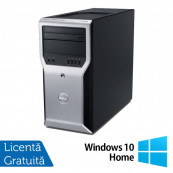 Workstation Dell Precision T1600, Intel Xeon Quad Core E3-1225 3.10GHz - 3.40GHz, 8GB DDR3, 500GB HDD, Placa video AMD Radeon HD7350 1GB, DVD-RW + Windows 10 Home, Refurbished Workstation