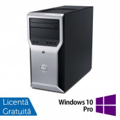 Workstation Dell Precision T1600, Intel Xeon Quad Core E3-1225 3.10GHz - 3.40GHz, 8GB DDR3, 500GB HDD, Placa video AMD Radeon HD7350 1GB, DVD-RW + Windows 10 Pro, Refurbished Workstation Refurbished