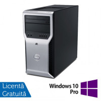 Workstation Dell Precision T1600, Intel Xeon Quad Core E3-1225 3.10GHz - 3.40GHz, 8GB DDR3, 500GB HDD, Placa video AMD Radeon HD7350 1GB, DVD-RW + Windows 10 Pro