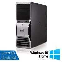 Workstation Dell T5500, Intel Xeon Quad Core E5630 2.53GHz-2.80GHz, 16GB DDR3, 1TB SATA, Placa video Gaming AMD Radeon R7 350 4GB GDDR5 128-Bit + Windows 10 Home