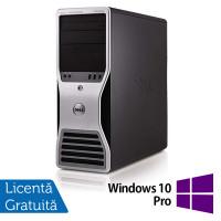 Workstation Dell T5500, Intel Xeon Quad Core E5630 2.53GHz-2.80GHz, 24GB DDR3, 2TB SATA, AMD Radeon R5 340, 4GB GDDR5 128-Bit + Windows 10 Pro