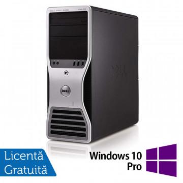 Workstation Dell T5500, Intel Xeon Quad Core E5630 2.53GHz-2.80GHz, 24GB DDR3, 2TB SATA, Placa video Gaming AMD Radeon R7 350 4GB GDDR5 128-Bit + Windows 10 Pro, Refurbished Workstation