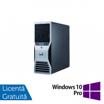 Workstation Dell T7400, 2x Intel Xeon Quad Core X5450 3.0Ghz, 16GB DDR2 ECC, 2x HDD 1TB SATA, DVD-RW, NVIDIA QUADRO FX4800 1,5GB GDDR3 + Windows 10 Pro, Refurbished Workstation