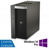 Workstation DELL Precision T7610 2 x Intel Xeon Octa Core E5-2687W V2 3.4GHz-4.0GHz 25MB Cache, 64GB DDR3 ECC, 1 x 480GB SSD + 1 x 2TB HDD SATA, nVidia Quadro K5200 8GB/256biti + Windows 10 Pro, Refurbished Workstation