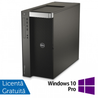 Workstation DELL Precision T7910 2x Intel Xeon Deca Core E5-2687W V3 3.1GHz-3.5GHz, 64GB DDR4 ECC, 2x1TB SSD + 2x1.2TB HDD SAS/10k + nVidia Tesla K20 Accelerator 5GB/320biti + Placa Video nVidia Quadro 6000 6GB GDDR5/384 bit + Windows 10 Pro