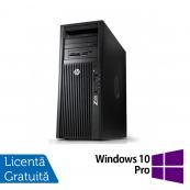 Workstation HP Z220 Tower, Intel Xeon Quad Core E3-1230 3.20Ghz - 3.60Ghz, 16GB DDR3, SSD 240GB SATA, DVD-RW, NVIDIA Quadro K2200/4GB + Windows 10 Pro, Refurbished Workstation